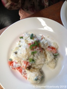 Potato Salad with Smoked Ocean Trout.