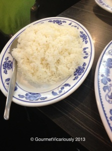 Single serving of rice.