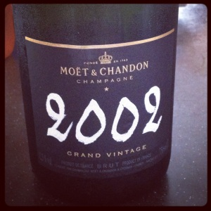 Moet and Chandon 2002 vintage
