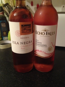 Isla Negra Rose and Echo Falls White Zinfandel Rose